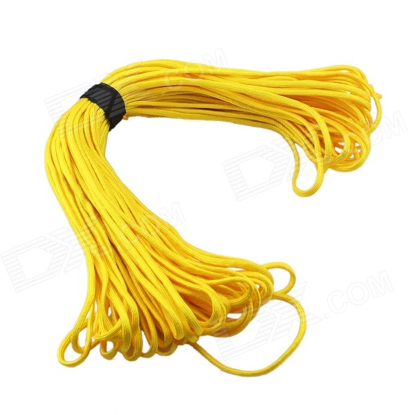 Outdoor Mountaineering Survival Parachute Cord Rope - Yellow (30m)