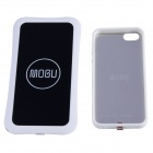 Mogu Universal QI Standard Wireless Charger + Receiver Case for IPHONE 5 / 5S - White
