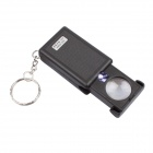 BIJIA Jewelry Appraisal 45x Magnifier w/ Key Chain - Black (3 x LR1130)