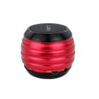 HOTT SP016 Mini Waterproof Metallic Bluetooth Subwoofer Speaker w/ TF / FM - Red