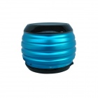 HOTT SP016 Mini Waterproof Metallic Bluetooth Subwoofer Speaker w/ TF / FM - Blue