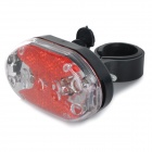 White Light Bike guidon de vélo 5 LED Phare + 5 LED arrière à Avertissement Light Set - Gris + Rouge