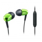 Philips SHE3905GN In-Ear Headphones with Microphone - White + Green
