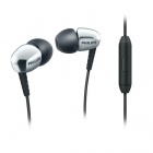Philips SHE3905SL In-Ear Headphones with Microphone - Black + Silver