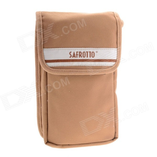 Universal Large Size Camera Accessory Storage Canvas Waist Bag - Light Brown ru 1 accessory kit for universal action camera