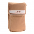 Universal Large Size Camera Accessory Storage Canvas Waist Bag - Light Brown