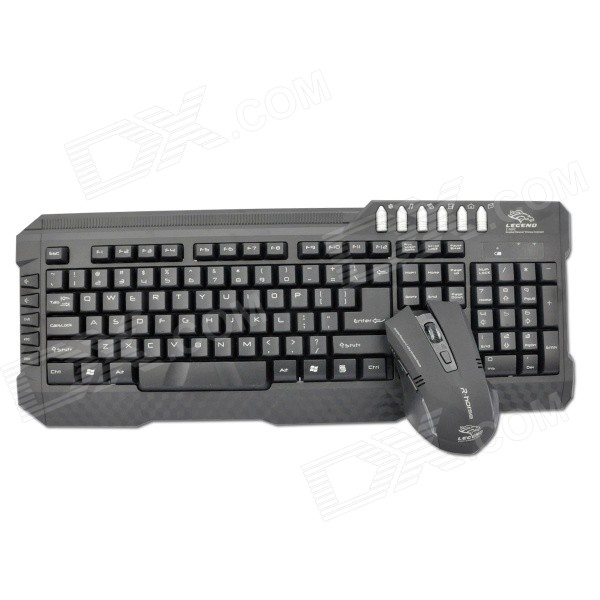 R.horse RH9250 USB 2.0 2.4G Wireless Gaming Mouse + Keyboard Set for Dell / HP / Sony + More - Black ноутбук dell 9250