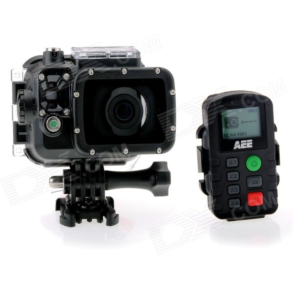AEE S71 HD 4K/2.7K/1080P Portable Sports 100m Waterproof 10X Digital Zoom Camera w/ 16GB TF CardSport Cameras<br>The S71 video camera is a compact high-end HD digital camera intended for professional applications. Main Functions and Features: Provides 147 degree wide-angle f/2.7 lens. Provides a special-purpose HD lens which supports 4K 2.7K 1080P 960P and 720P HD video recording. Takes 16MP pixels pictures in 4608 x 3456 resolution. WiFi function and more App application. Performs 10X digital zooming. A new generation of image sensor Exmor R CMOS photosensitivity doubled. Perfectly show the image details even in low-light environment. Performs shooting in multiple modes such as single shot fast shot timed shooting. Provides unique fast-shot feature up to 10 photos per second. Provides an independent voice recording function for long-time voice recording. Provides the 180&amp;deg; photo rollover function. Connects to an external TFT screen to view the video recording and playback. Support Audio-in function and external dedicated microphone. Provides HDMI and AV output interfaces for easy connecting to HD monitor or TV set to view record files. Provides better video effects in multiple video output modes (NTSC system): 4K Cinema (4096&amp;times;2160) 12 frames / second 4K (3840 x 2160) 15 frames / second 2.7K Cinema (2704 x 1440) 24 frames / second 2.7K (2704 x 1524) 30 frames / second 1080P(1920 x 1080) 60 frames / second 1080P(1920 x 1080) 48 frames / second 1080P(1920 x 1080) 30 frames / second 1080P(1920 x 1080) 24 frames / second 960P(1280 x 960) 60 frames / second 960P(1280 x 960) 48 frames / second 720P(1280 x 720) 120 frames / second 720P(1280&amp;times;720) 60 frames / second Provides compact and fashionable design. Records video programs in MP4 format to facilitate playback on a PC and uploading to video-sharing websites. Provide high color fidelity to present more clear and natural video pictures. Supports playback deleting files and other operations on the local video camera. Supports fast forwarding fast rewinding and playback. Built-in microphone adopts dual-Mic design to achieve stereo and high-quality recording effect. All-round highlight status indicator. Built-in G-Sensor can function as automobile black box. Supports connecting to an external microphone (special-purpose microphone only). Provides a 1/4-inch general-purpose interface to facilitate extension of accessories. Accessories adopt strengthened structure with improved reliability and stability. Rechargeable built-in high capacity lithium-ion battery extends the video recording time. Provides shockproof features to withstand mild drop or knock. Provides an IP68 waterproof housing withstanding a diving depth of 100 meters and two-types of rear-cover design. Provides automatic standby for power saving and supports automatic saving of audio and video data. Specifications: Visual angle: 147&amp;deg; Aperture: f/2.7 Digital zoom ratio: 10X Pixel: 16 million Video recording format: MP4 Audio recording format: WAV Photo format: JPG (JPEG) WiFi transmission distance: About 100 meter (Max.) Storage medium: 128MB Flash Memory (not for photo shooting or video recording); up to 64GB external Micro SD card Standard battery capacity: 1500mAh Power consumption: 700mA Recharging duration: USB Cable: About 3.5 hours; Power Adapter: About 2.5 hours Maximum video recording time: About 110 minute (Max.) Maximum audio recording time: About 240 minute (Max.) TFT Display: 2.0 true color TFT display (16:9) LED Dot-matrix screen: 90 x 64mm FSTN (lattice screen) Operating platform requirements: Operating system: Windows XP SP2 / Vista or above / Mac OS Storage temperature: -20&amp;#39;C ~ 60&amp;#39;C Operating temperature: -10&amp;#39;C ~ 50&amp;#39;C<br>