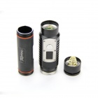 "UniqueFire UF-1403 0.6"" Screen 750lm 5-Mode White Flashlight w/ Cree XM-L2 T6 - Black (1 x 18650)"