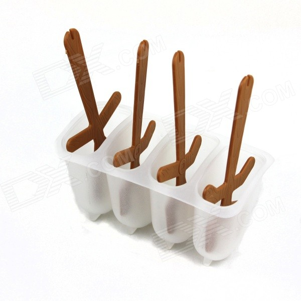 Ice Lattice Ice Cream Popsicle Mold - Translucent White + Brown