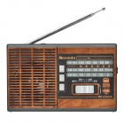 Merenda MR-K36UR 3-Band FM / AM / SW Radio w/ TF / MP3 Player Function - Black + Wooden
