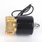 ZnDiy-BRY DC 24V 1/4'' BSPT Normally Closed Electric Solenoid Valve - Black + Yellow