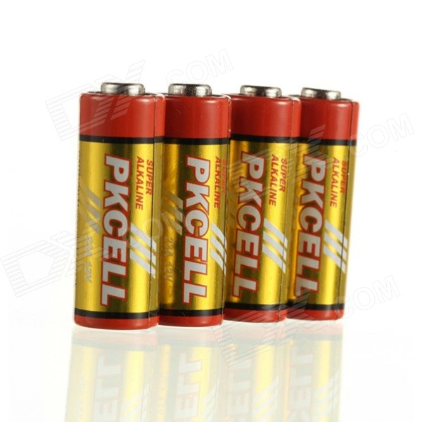 PKCELL Disposable 12V 23A Alkaline Batteries Pack - Orange + Yellow (5 PCS) ag8 lr55 1 55v alkaline cell button batteries 10 piece pack