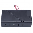 3 x D Size Battery Power Source Holder Case Box with Leads and Cap - Black