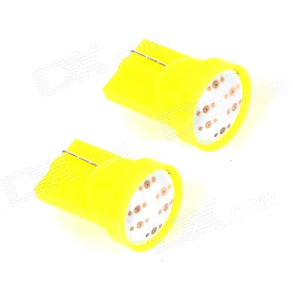 ZnDiy-BRY T10 / 1W 50-70lm COB LED Yellow Car Side / Instrument Light (12V)