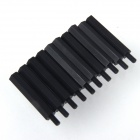 ZnDiy-BRY M3 x 27 + 6 Nylon Spacer Hex Nylon Pillars for Multicopter RC Model - Black (10 PCS)