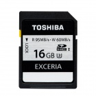 TOSHIBA SD-H016GR7VW060A UHS-I SDHC 16GB Card - Black (R: 95MB/s; W: 60MB/s)
