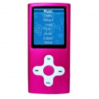 "HOTT MU820 1.8"" Sporting MP3 MP4 Player w / FM / Recorder - Red (4GB)"