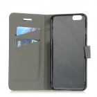 Protective PU Flip-Open Case w/ Stand / Card Slot / Magnetic Buckle for IPHONE 6 PLUS - Black