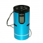 "HOTT S010 1.0"" LCD Waterproof Outdoor Sports Subwoofer Speaker w/ FM / TF - Blue"