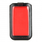 Protective PU Leather Case w/ Full Touch Screen for Samsung Note 3 - Black + Red