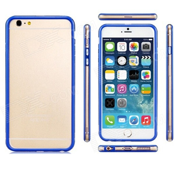 Pandaoo Plastic Bumper Case for IPHONE 6 PLUS 5.5 - Blue mercury goospery blue moon magnetic leather case for iphone 6s plus 6 plus dark blue