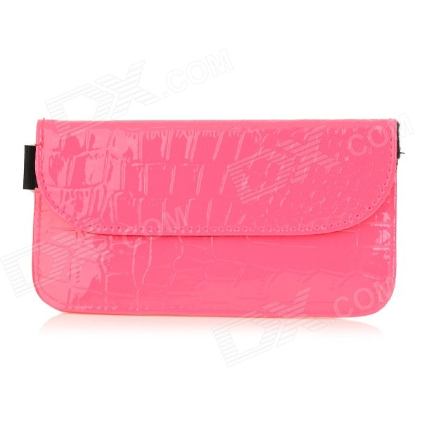 D51 RF Signal Blocker Jammer Anti-radiation PU Pouch Bag Case for IPHONE 4 / 4S / 5 / 5S / 5C - Pink