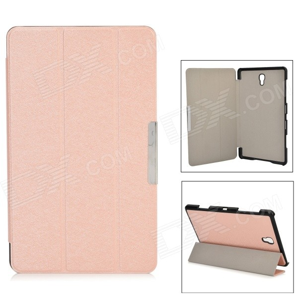 PU Leather + PC Case w/ Stand / Auto-Sleep for Samsung Galaxy Tab S 8.4 / T700 - Light Pink