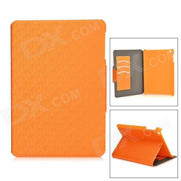 Maze Pattern Protective PU + PC Case w/ Card Slots for 8 RETINA IPAD MINI 2 - Orange - DXTablet Cases<br>Fashionable and lightweight; Suitable for 8 tablet PC; With 3 card slots convenient to hold various IC cards.<br>