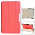 Silk Pattern Protective PU + PC Case w/ Stand for Samsung Galaxy Tab S 8.4 / T700 - Red