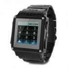 "W818 1.4"" IPX3 Waterproof GSM SC6600D Smart Watch Phone w/ 128MB RAM, 64MB ROM - Black"