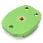 G079 Multi-Function CNC Aluminum Alloy Tripod Adapter Mount for GoPro Hero 4 / 3 / 3+ - Green
