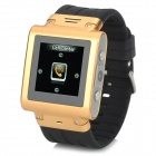 "W838 Waterproof 1.5"" Resistive Screen GSM Wrist Watch Phone w/ 2GB ROM, Bluetooth, TF - Gold + Black"