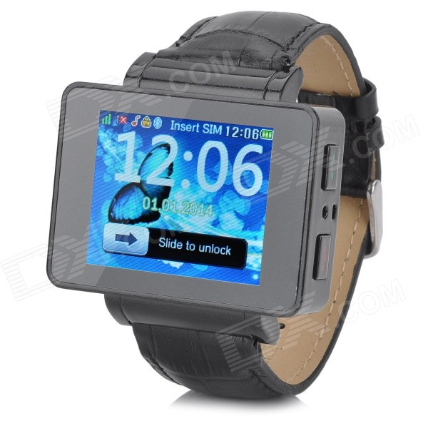 i6s 1.8 TFT GSM 4-Band Bluetooth PU Band Watch Phone w/ Wi-Fi, FM, TF - Black ноутбук hp elitebook 820 g4 z2v85ea z2v85ea