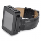 "I6s 1.8"" TFT GSM 4-Band Bluetooth PU Band Watch Telefone w / Wi-Fi, FM, TF - Preto"