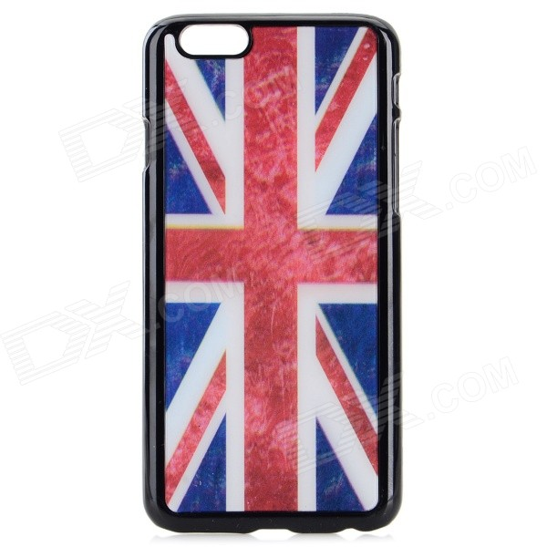 UK Flag Pattern Protective Plastic Back Case for IPHONE 6 4.7 - Red + Blue + Multi-Color suck uk