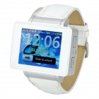 "i6s 1.8"" TFT GSM 4-Band Bluetooth PU Band Watch Phone w/ Wi-Fi, FM, TF - White"