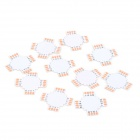 UltraFire DIY Plus-Shaped PCB Connectors Adapters for Flexible LED Light Strips - White (10 PCS)