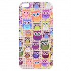 "Cute Owl Pattern TPU Back Case for IPHONE 6 PLUS 5.5"" - Yellow + Orange + Multi-Color"