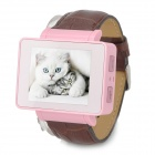 "i6s 1.8"" TFT GSM 4-Band Bluetooth PU Band Watch Phone w/ Wi-Fi, FM, TF - Pink + Brown"