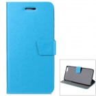 "Protective PU Flip-Open Case w/ Stand / Card Slot / Magnetic Buckle for IPHONE 6 PLUS 5.5"" - Blue"