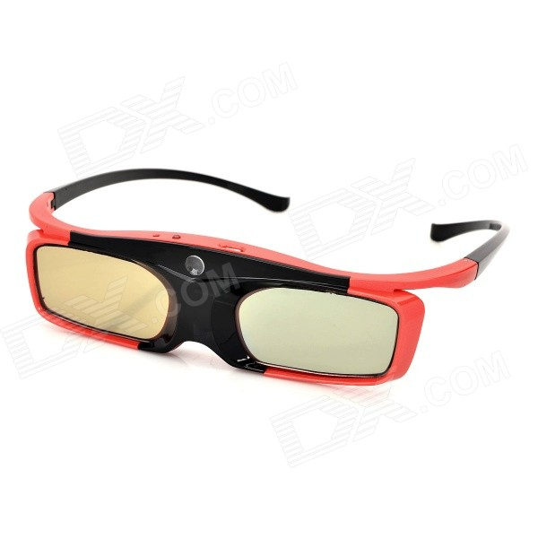 SG16-DLP 3D Active Shutter Glasses for DLP-link Projector - Black + Red sg08 dlp 3d shutter glasses for dlp link projector black