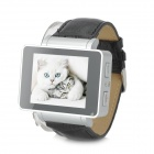 "i6s 1.8"" TFT GSM 4-Band Bluetooth PU Band Watch Phone w/ Wi-Fi, FM, TF - Silver + Black"