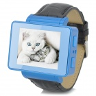 "i6s 1.8"" TFT GSM 4-Band Bluetooth PU Band Watch Phone w/ Wi-Fi, FM, TF - Blue + Black"