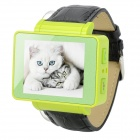 "i6s 1.8"" TFT GSM 4-Band Bluetooth PU Band Watch Phone w/ Wi-Fi, FM, TF - Green + Black"