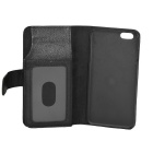 "Flip-open PU Leather Purse Wallet Case for IPHONE 6 PLUS 5.5"" - Black"