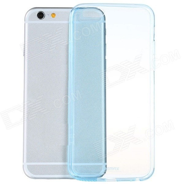 Ultra-thin TPU Protective Back Cover Case for IPHONE 6 PLUS 5.5'' - Translucent Blue iface mall glossy pc non slip tpu back case for iphone 6 plus 6s plus blue