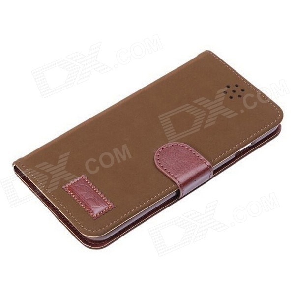 Pandaoo Leather Flip Case w/ Stand & Credit Card Slot for IPHONE 6 PLUS - Brown stand leather case for iphone 6 plus 6s plus 5 5 inch with card slot dark blue