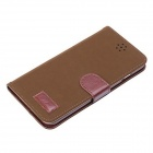 Pandaoo Leather Flip Case w/ Stand & Credit Card Slot for IPHONE 6 PLUS - Brown