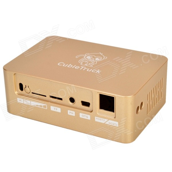 CT CASE03 ABS + PC Case for Cubietruck Development Board - Champagne